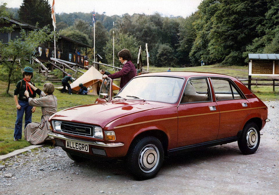 Austin Allegro at Cub Scout camp site