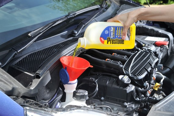 Top up your fluids before hitting the road (Picture © Prestone)
