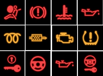 Quiz Identify The Car Dashboard Warning Lights Green Flag - Car sign on dashboard