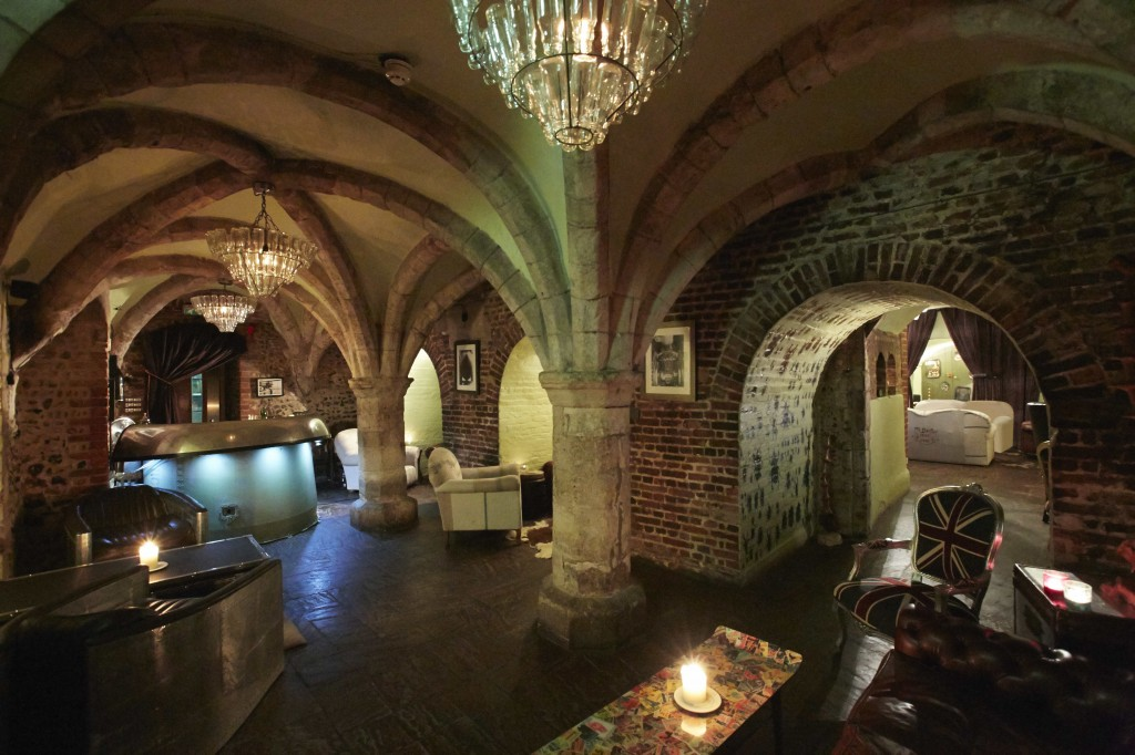The quirky underground bar at The Angel hotel in Bury St Edmunds