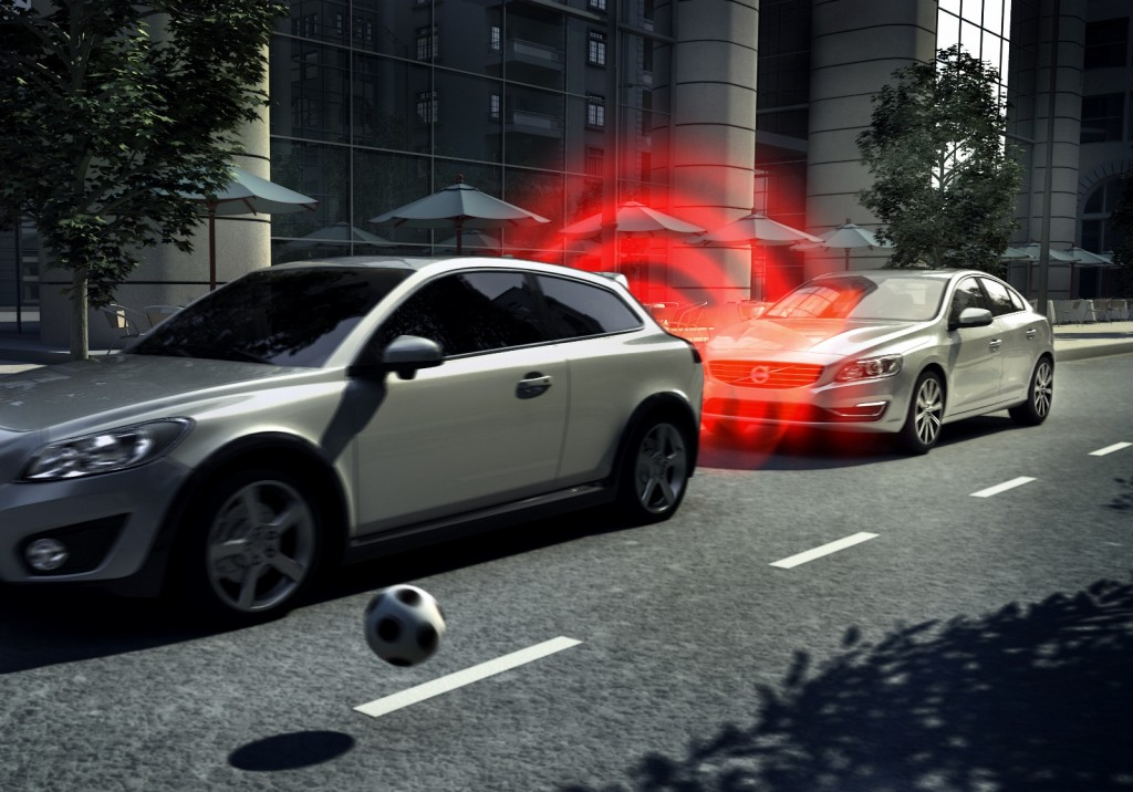 Volvo was one of the pioneers of Autonomous Braking (Picture © Volvo)