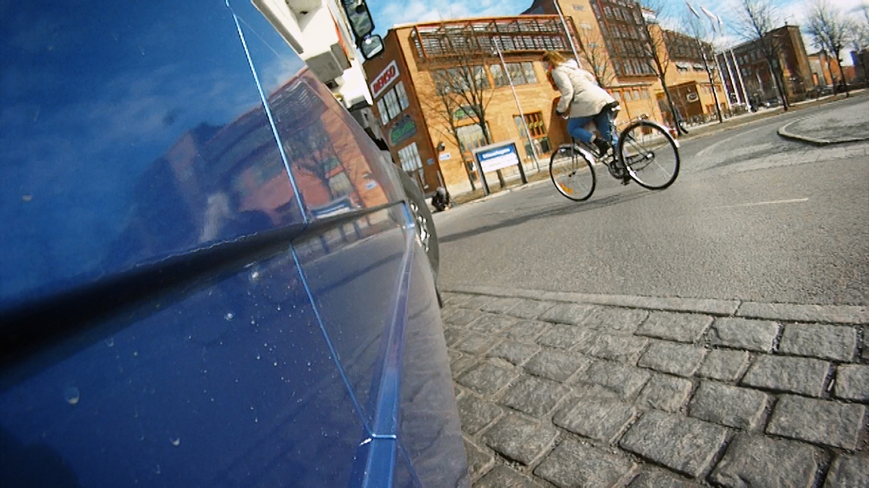 Volvo truck with cyclist detection