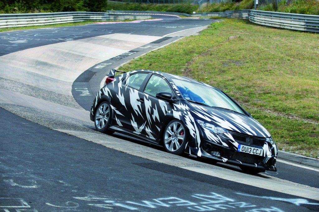 Honda Civic Type-R 2015 testing at the Nürburgring