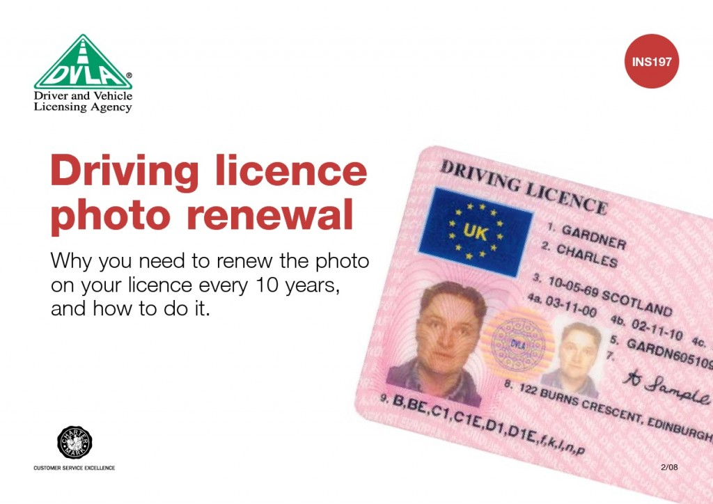 You shouldn't pay a service charge when you apply for a new driving licence