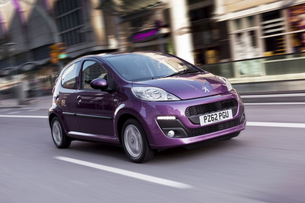 Least affected by pothole problems is the Peugeot 107  (Picture © Peugeot)