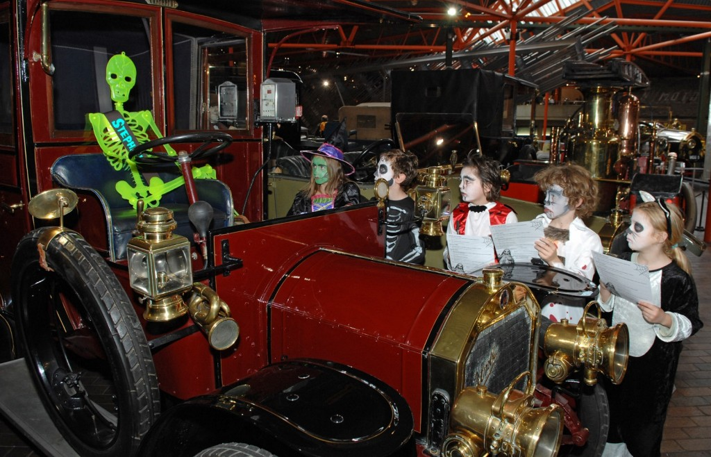 Halloween quiz trail at the National Motor Museum is popular with ghost hunters of all ages (Picture © Beaulieu)