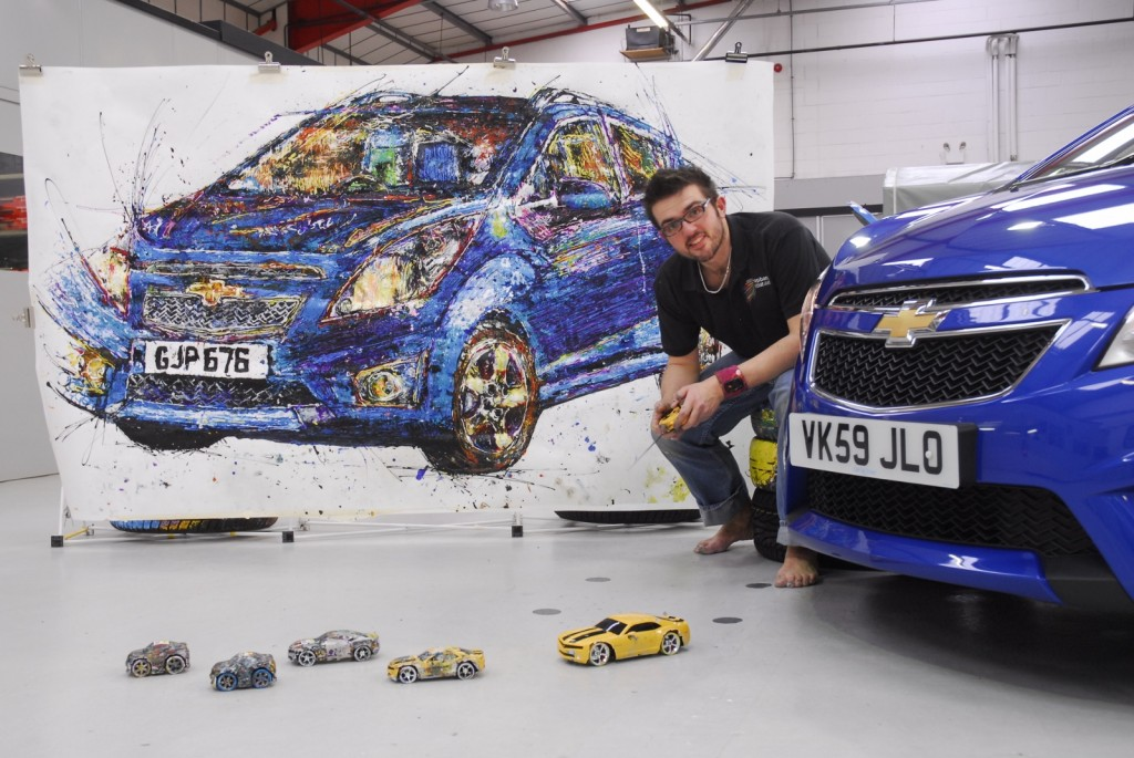 Painting with radio controlled cars and artist Ian Cook is sure to make for a memorable and fun half term (Picture © Chevrolet)