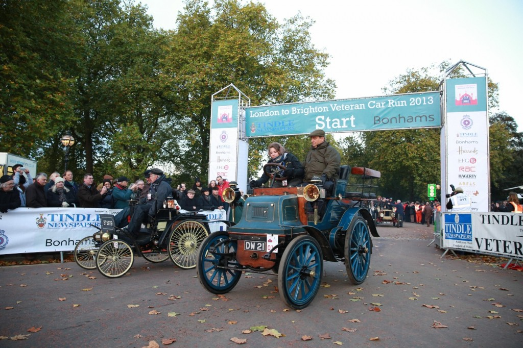 Get up close to veteran cars the day before the London to Brighton run