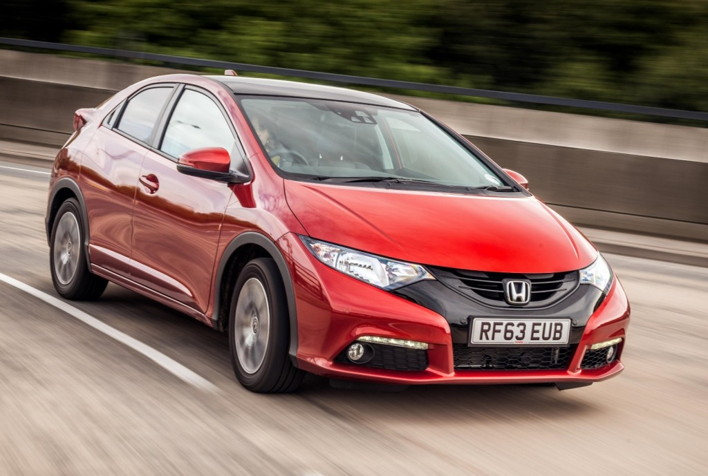 Honda Civic records the best 'true MPG' according to tests by What Car? mag (Picture © Honda)