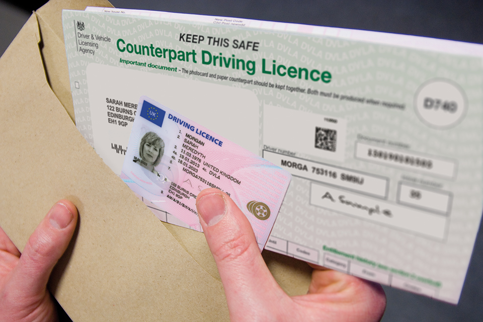 Driving licence change