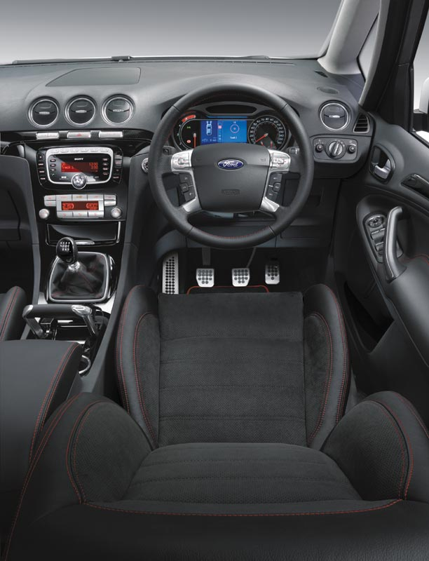 Ford S-Max interior features an unusual handbrake design