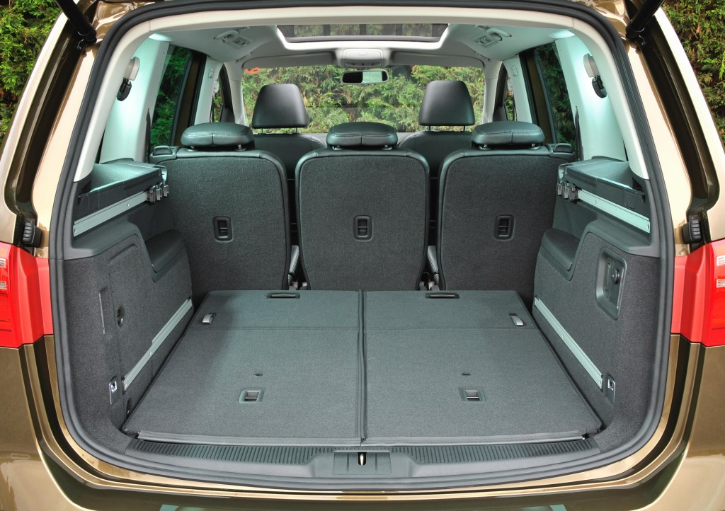 In five-seat mode, the Alhambra's boot is vast