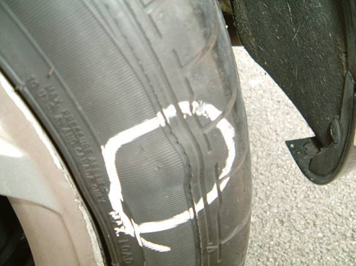Image result for tyre bulging