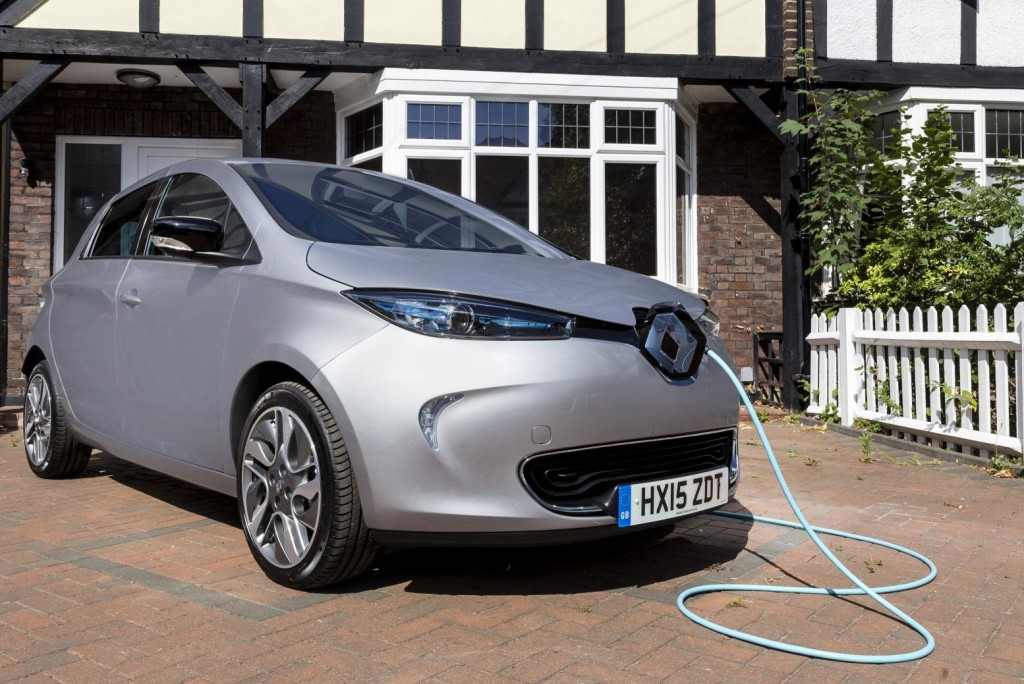 Electric car charging roads