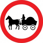 Obscure perhaps, but not pointless if you like horses. It means horsedrawn vehicles prohibited
