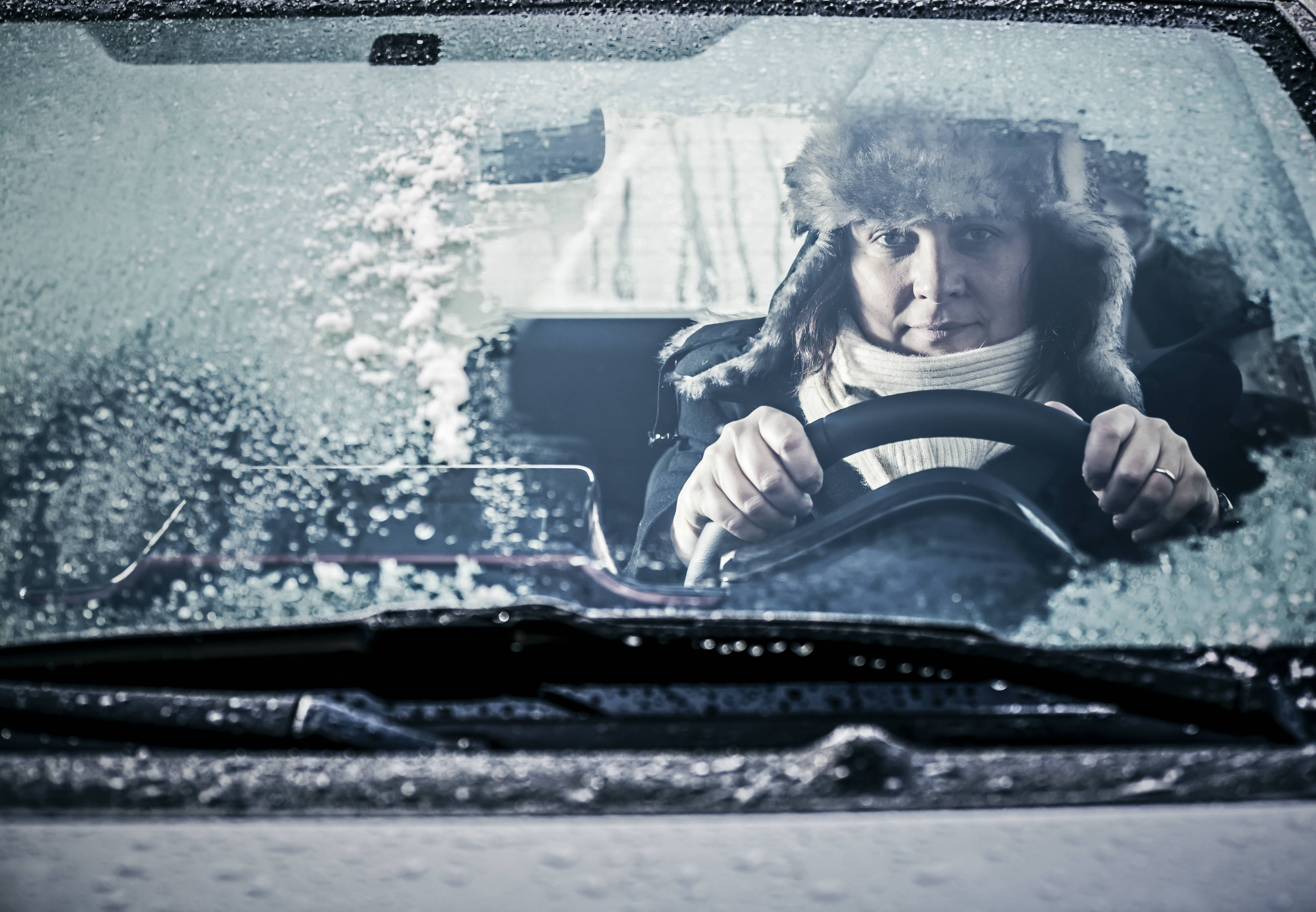Driving in winter with air conditioning