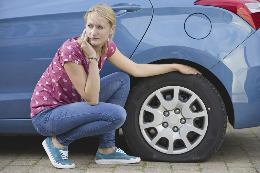 55% of British drivers say they can't change a spare wheel