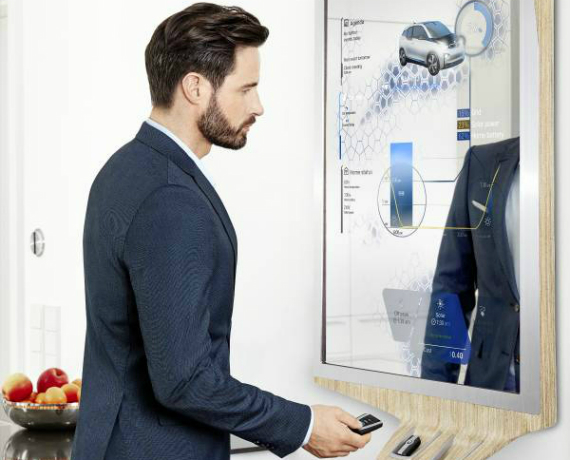 BMW and Samsung showed a connected mirror at CES 2016
