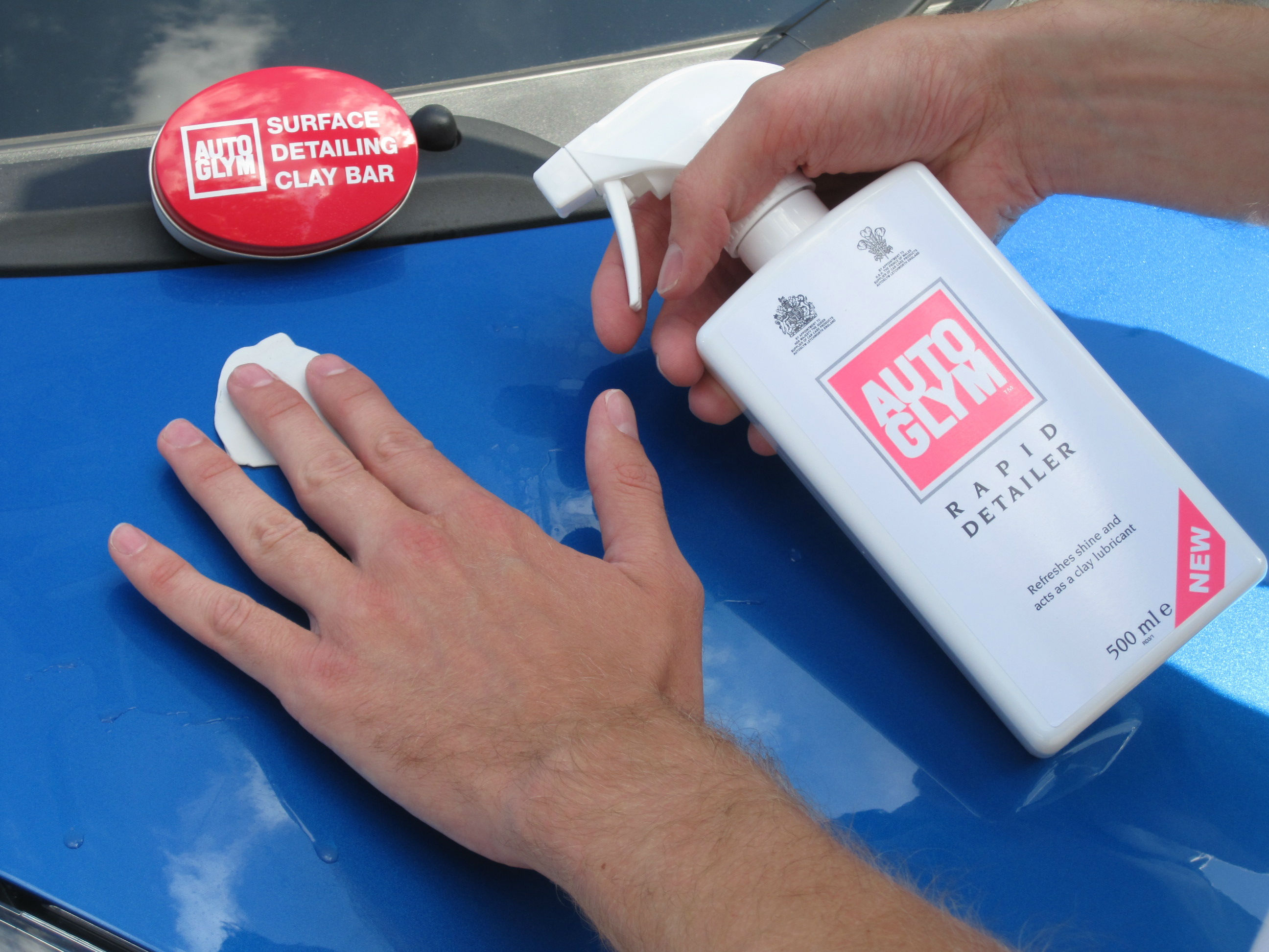 A clay bar can remove tree sap stains from paintwork