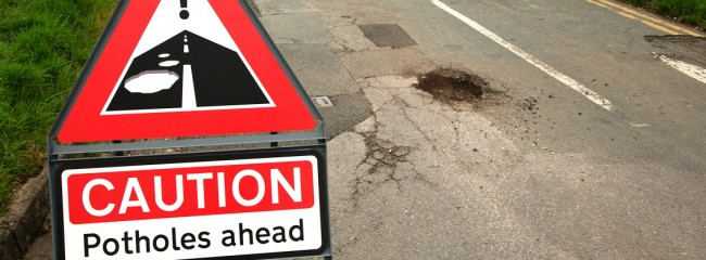 Potholes will take 14 years to fix, says 2016 report