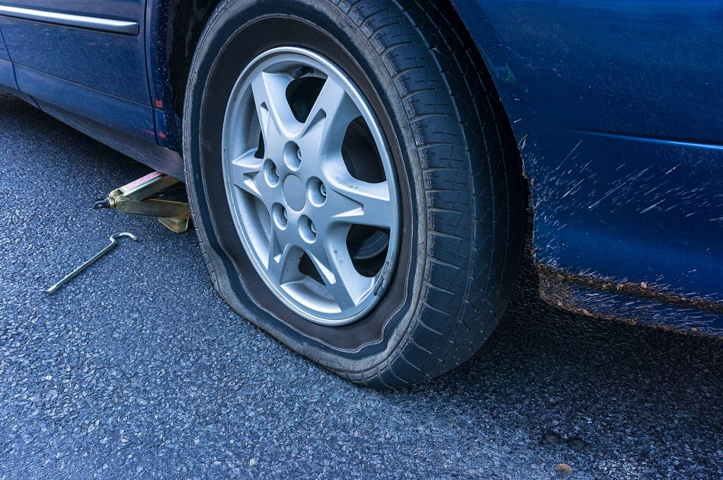 Spare wheel versus repair kit