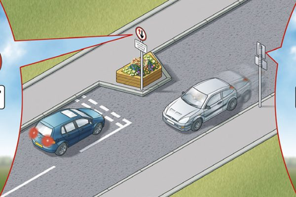Signs in traffic calming measures are compulsory and must be obeyed at all times