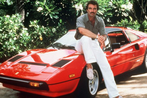 Which Ferrari did Tom Sellek drive in Magnum, P.I.?