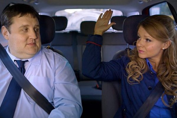 Which people carrier featured in Peter Kay's Car Share?