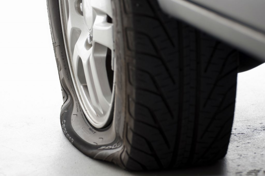 Tyre pressure warning systems fails to warn of flat tyres