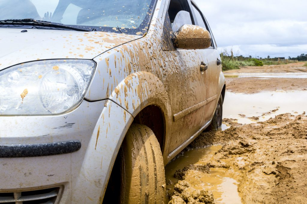 What to do if your car is stuck in mud