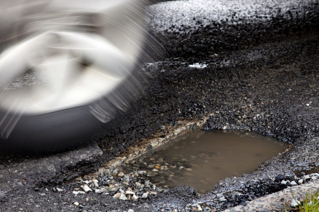 Pothole warning system