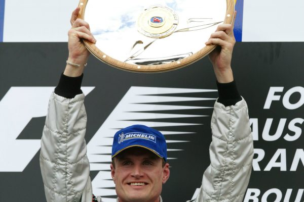 What helped power British race ace David Coulthard to Formula One victories