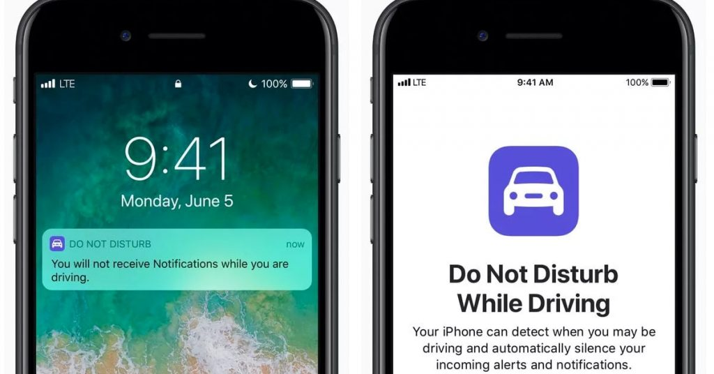 How to set Do Not Disturb While Driving mode for Apple iOS and Google Android smartphone