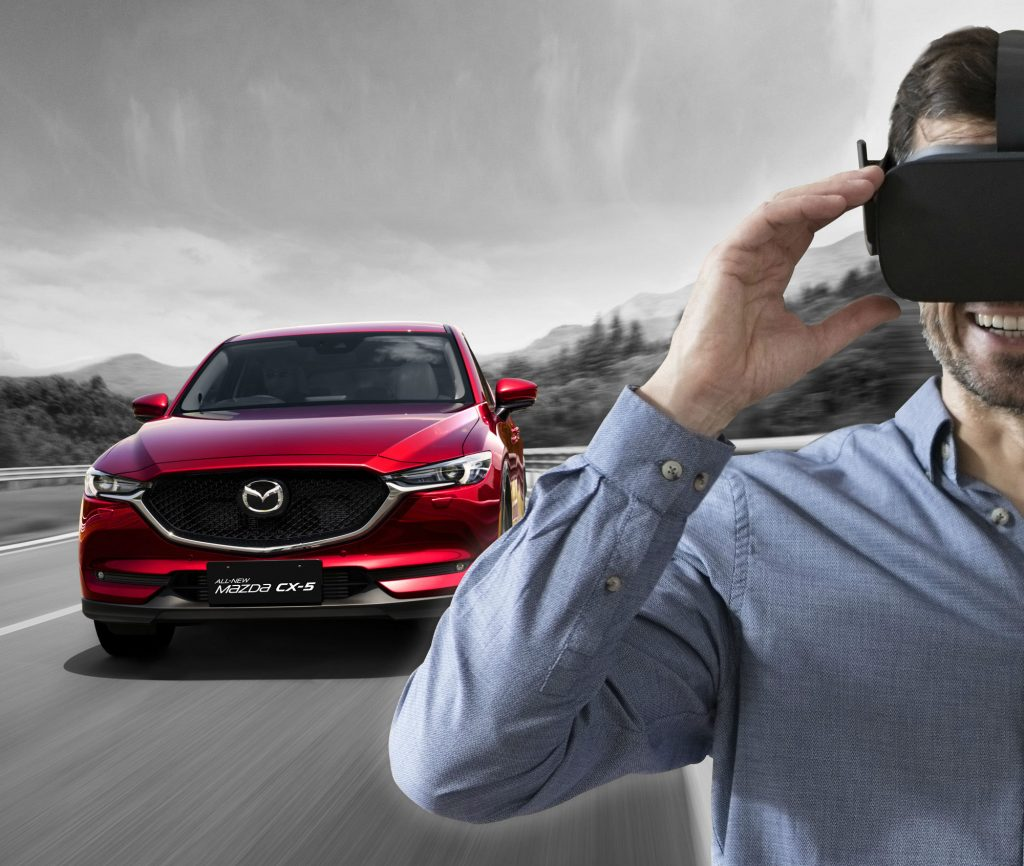 Test drive a Mazda CX-5 using virtual reality