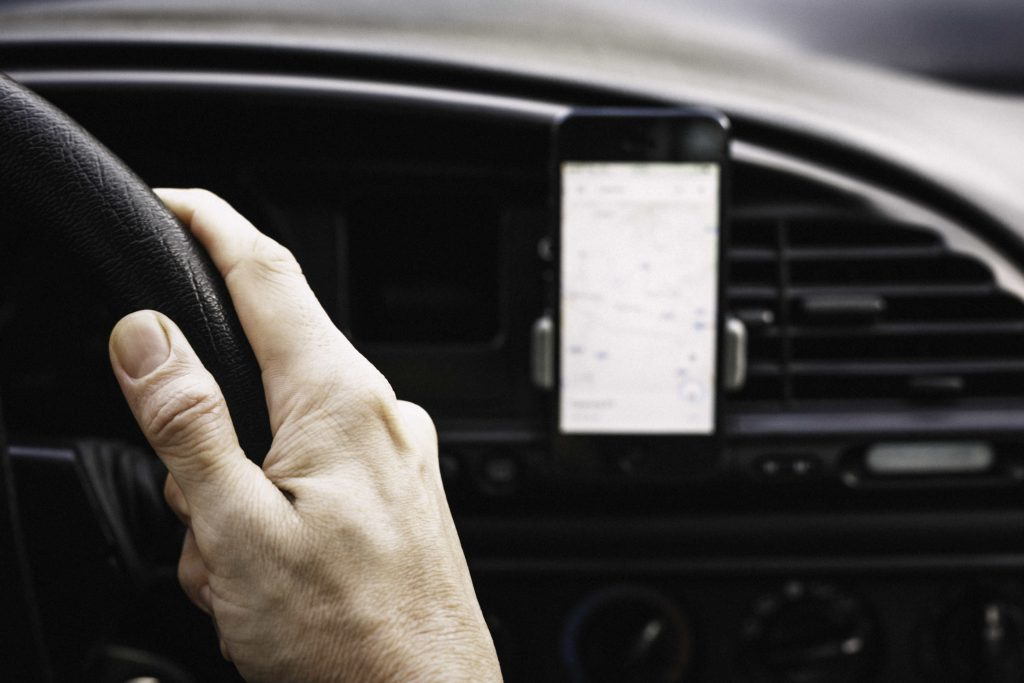 Phone holders how to remain legal in a car when using sat nav or making calls