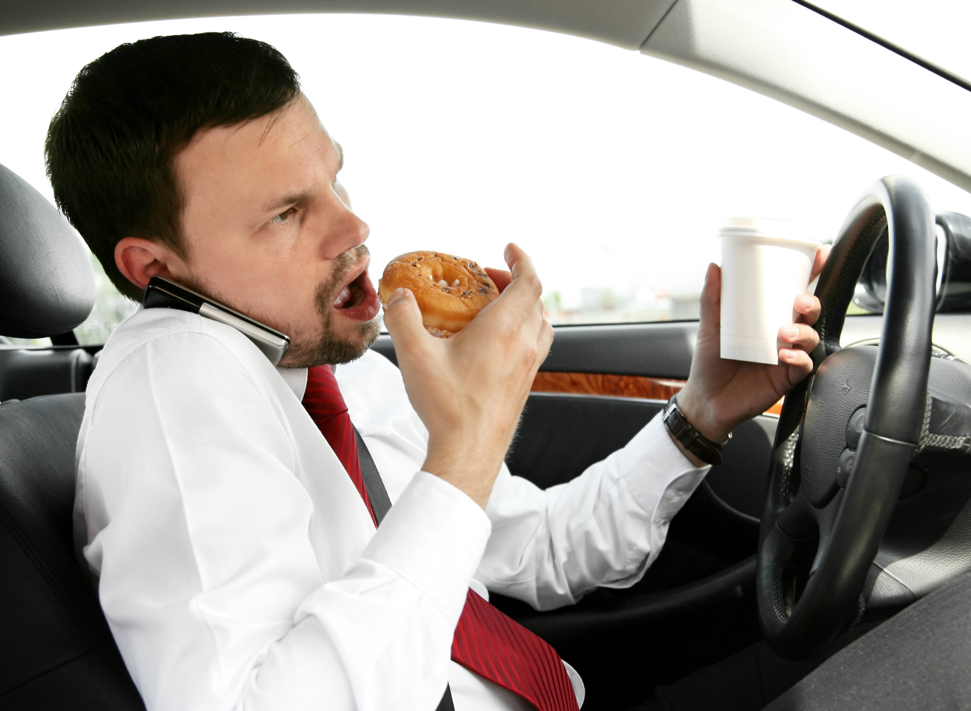Eating, drinking, smoking: survey reveals the most common distractions for drivers