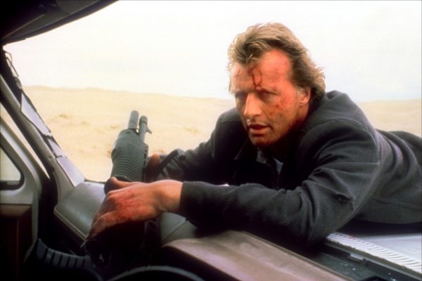 Which Cadillac appears alongside Rutger Hauer in The Hitcher?