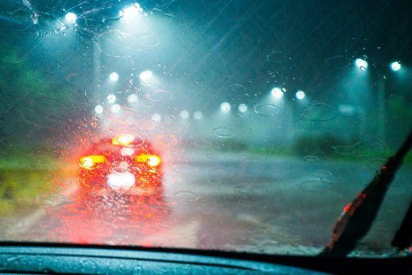 When roads are wet or slippery what should be the minimum gap to the car in front?