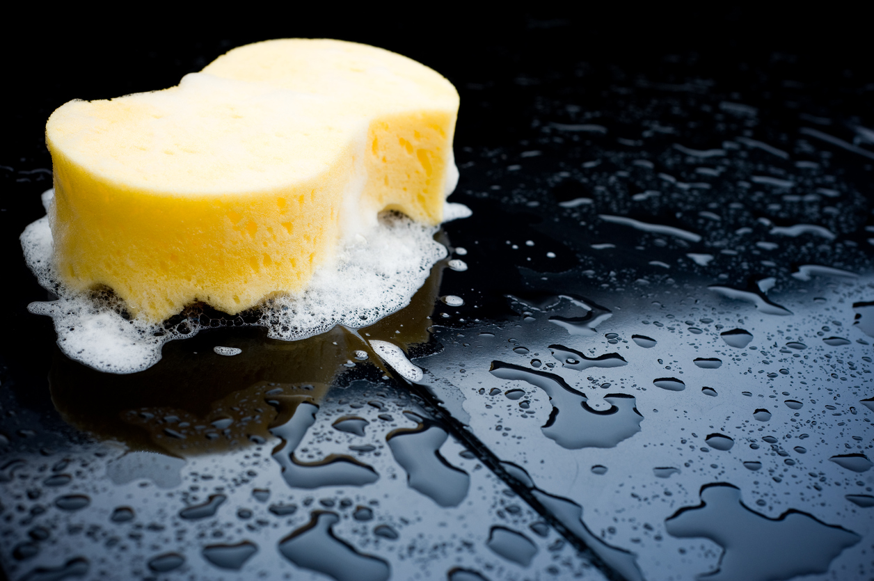 Which sort of soap is best to use when washing a car?