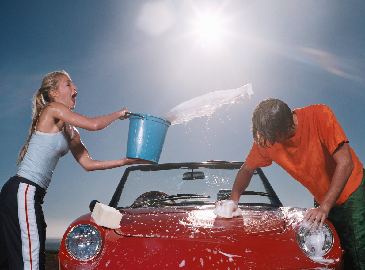 When and where is it best to wash a car?