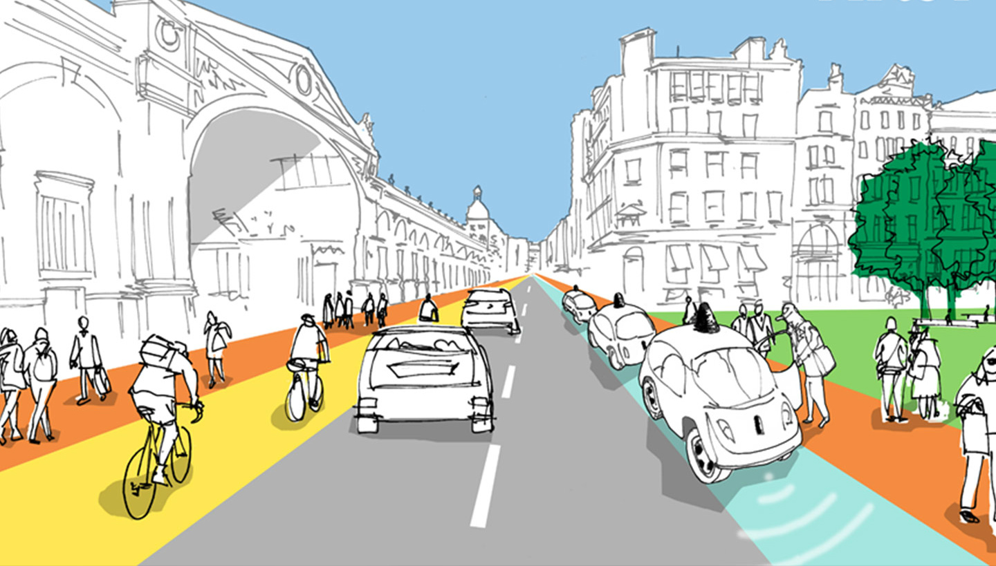 Arup Flexkerb smart pavement idea for cities adapts roads for pedestrians, cyclists and driverless cars