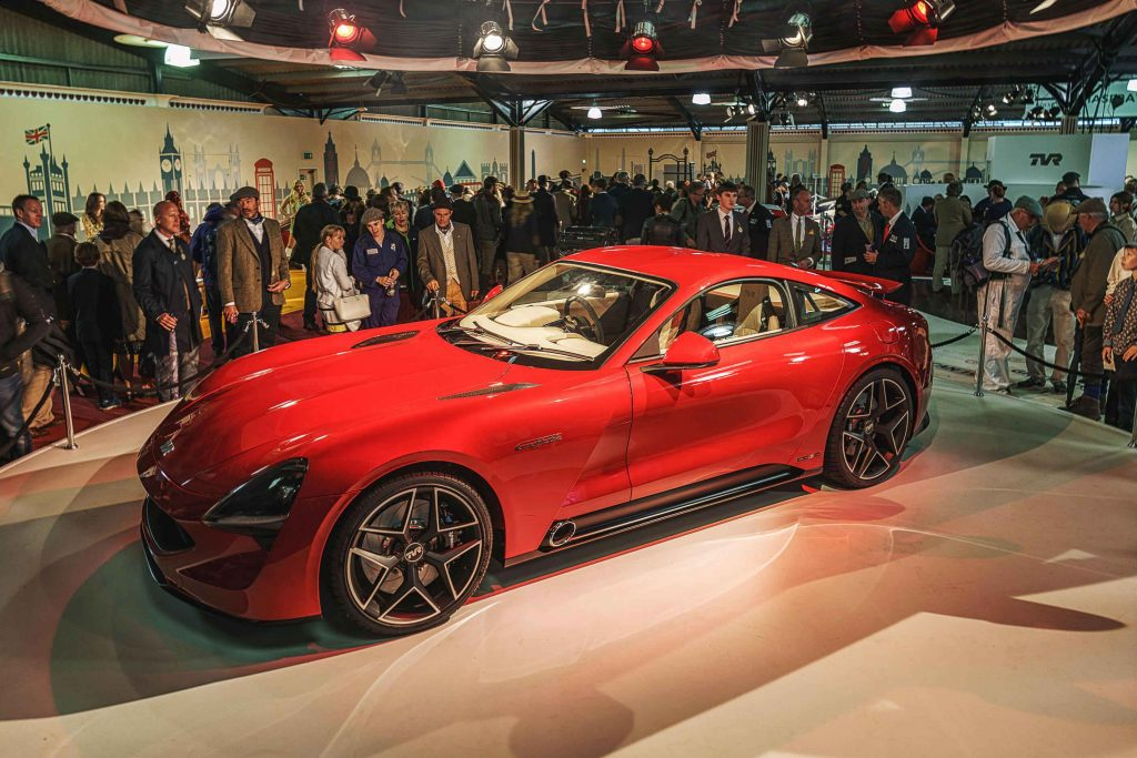 The new TVR Griffith is one of many sports cars at the 2018 London Motor Show