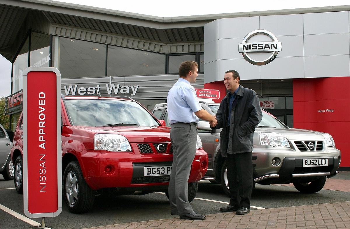 Nissan sale on forecourt