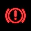 Dashboard warning light for the braking system