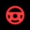 Dashboard warning light for the power steering system