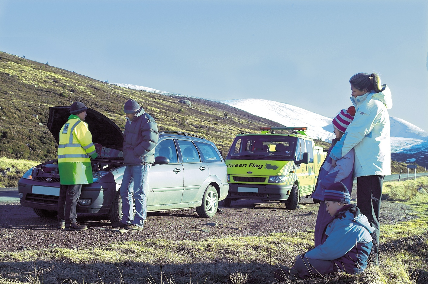 Green Flag roadside recovery technicians are trained to the highest industry standard