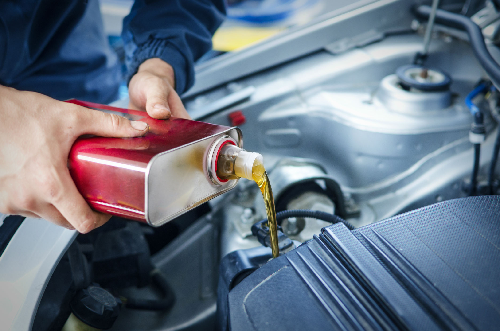 What's the best way to check an engine's oil level?