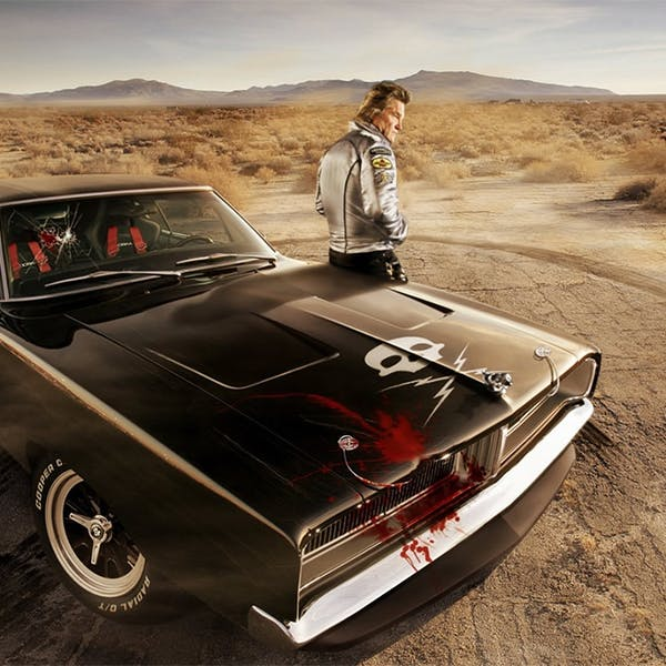 Kurt Russell and a Chevrolet Nova star in which Quentin Tarantino film?