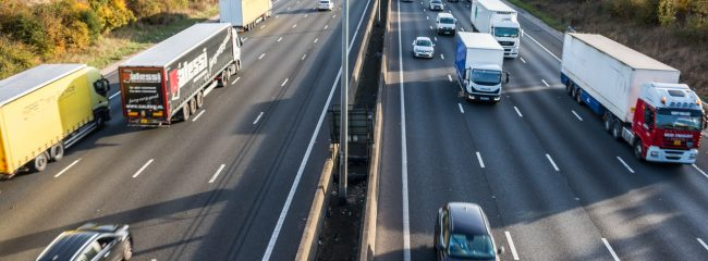 True or false: the left lane of a motorway is the lorry lane