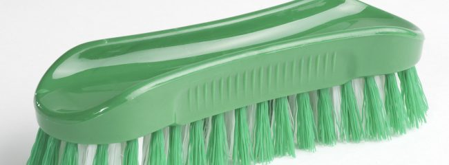 Why would you use a stiff nylon brush to clean a car?